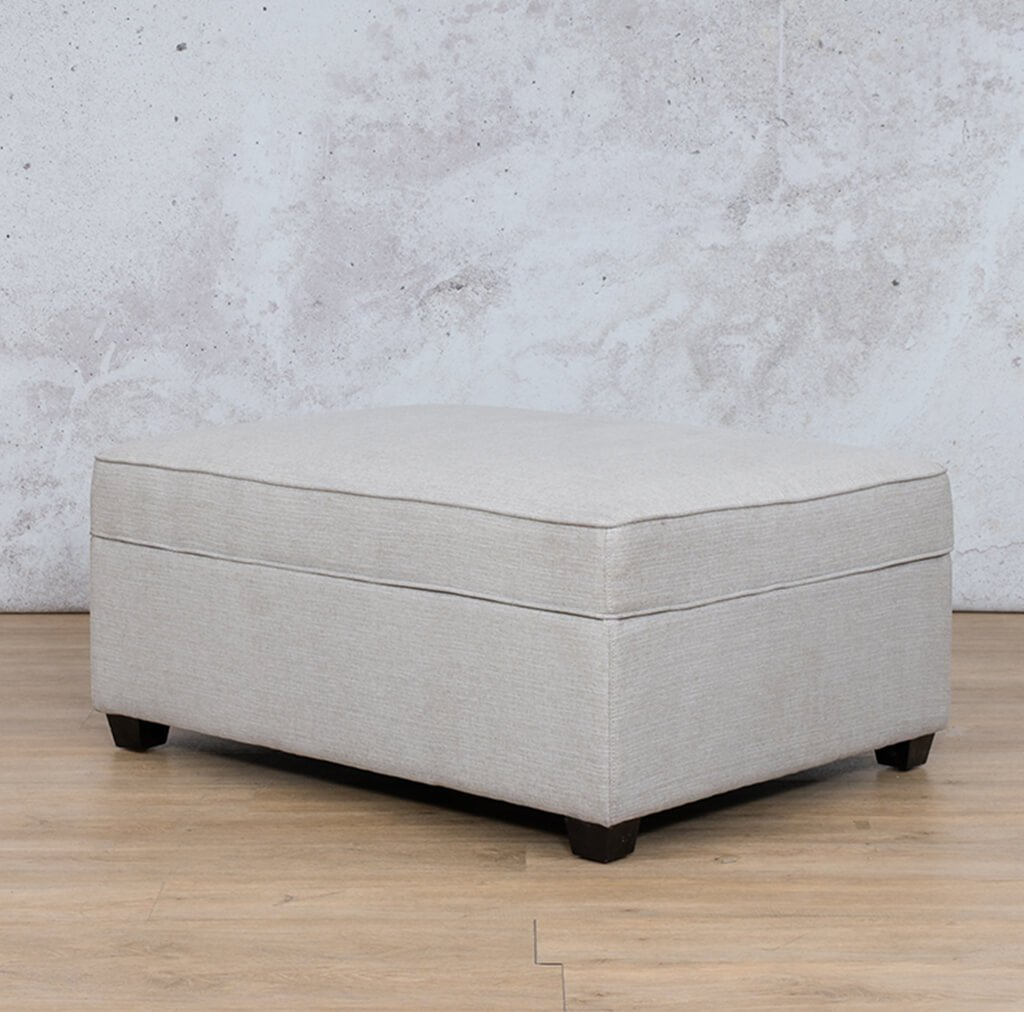 Arizona Fabric | Ottoman | Oyster | Leather Gallery