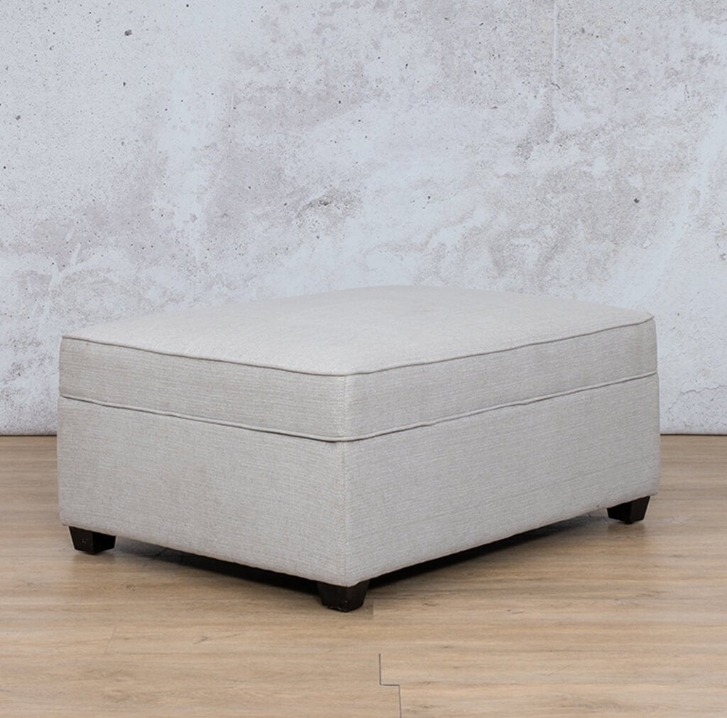 Arizona Fabric | Ottoman Reversed | Oyster | Leather Gallery
