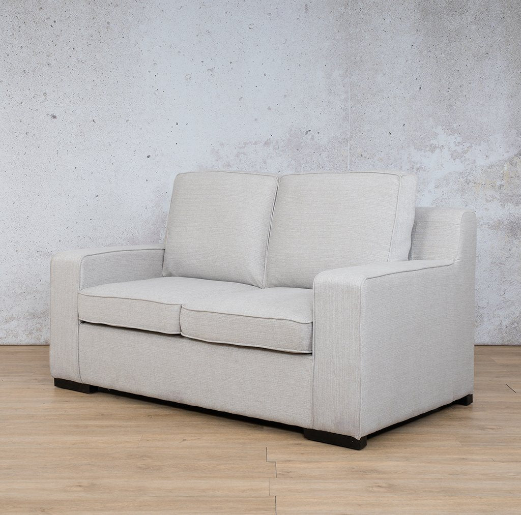 Arizona Fabric Couch | 2 seater couch | Oyster-A | Front Angled | Couches for Sale | Leather Gallery Couches