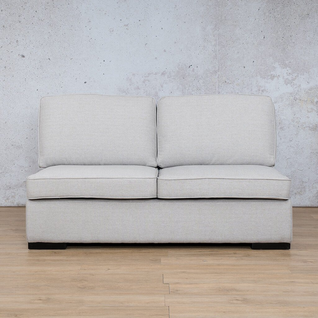 Arizona Fabric Couch | Armless 2 Seater Couch | Oyster-A | Couches For Sale | Leather Gallery Couches