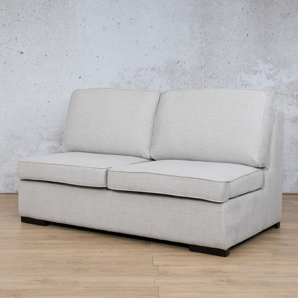 Arizona Fabric | Armless 2 Seater Angled | Oyster | Leather Gallery