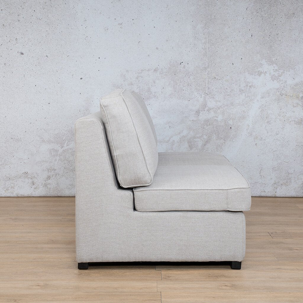 Arizona Fabric | Armless 2 Seater Side | Oyster | Leather Gallery