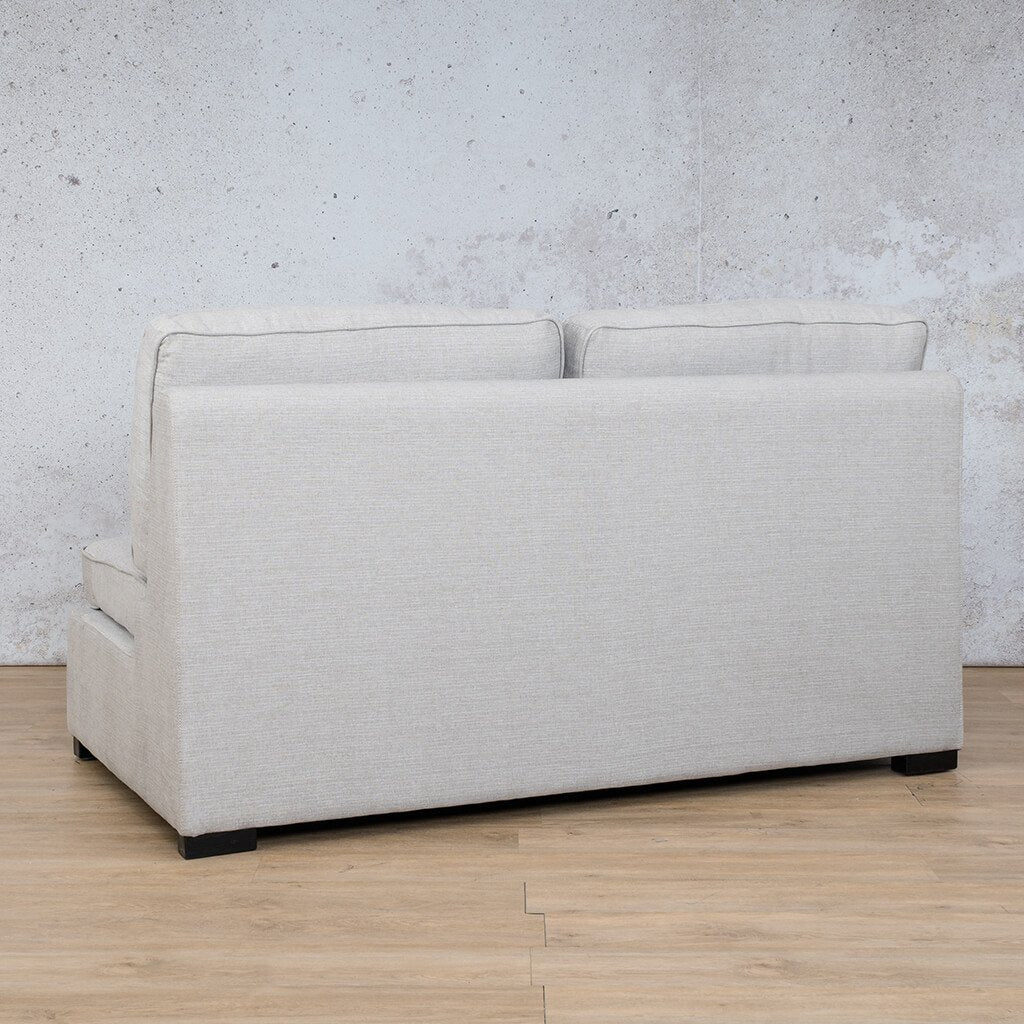 Arizona Fabric | Armless 2 Seater Angled Back | Oyster | Leather Gallery
