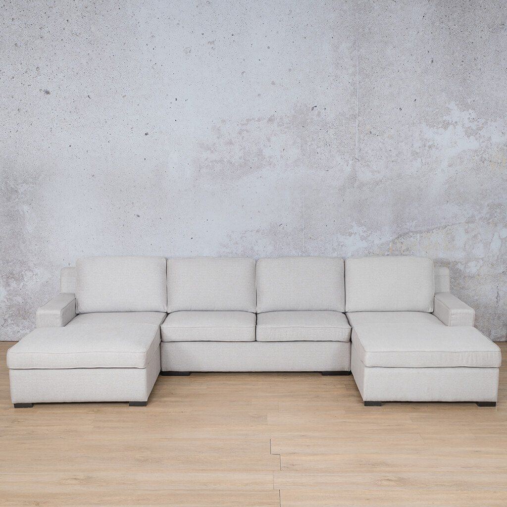 Arizona Fabric Corner Couch | U-Chaise Sectional | Oyster-A | Couches For Sale | Leather Gallery Couches