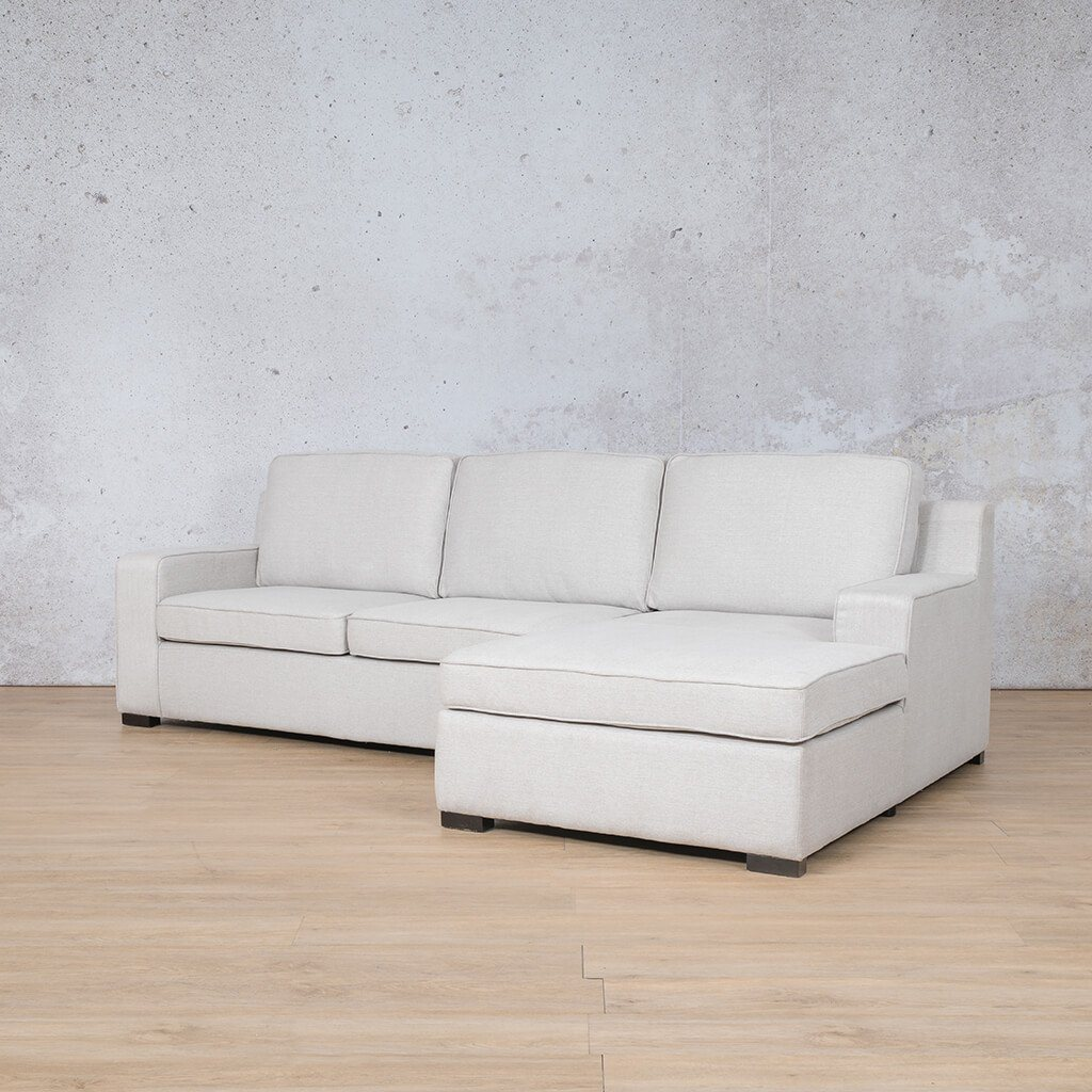 Arizona Fabric Corner Couch | Sofa Sectional-RHF | Oyster-A | Front Angled | Couches For Sale | Leather Gallery Couches
