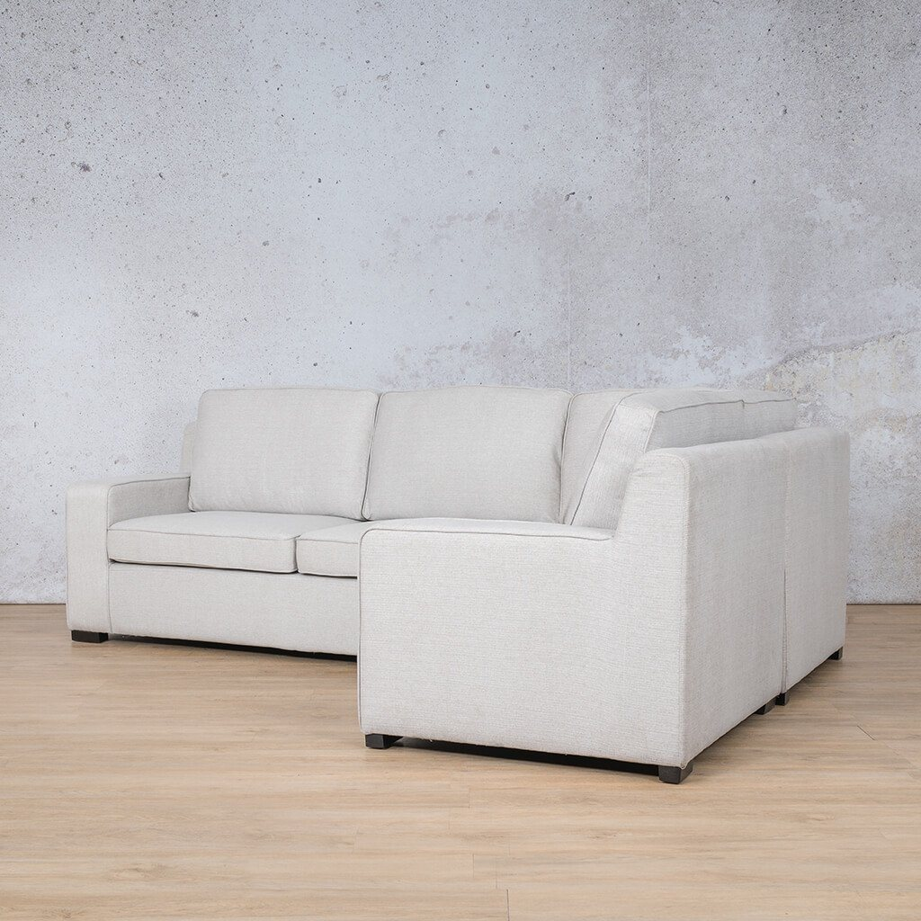 Arizona Fabric Couch | L-Sectional 4 Seater RHF | Oyster-A | Back Angled | Couches For Sale | Leather Gallery Couches