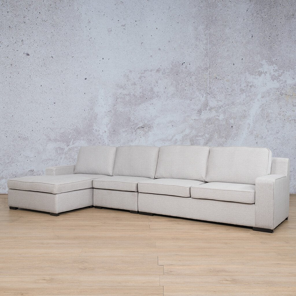 Arizona Fabric Corner Couch | Chaise Modular Sectional-LHF | Oyster-A | Front Angled | Couches For Sale | Leather Gallery Couches