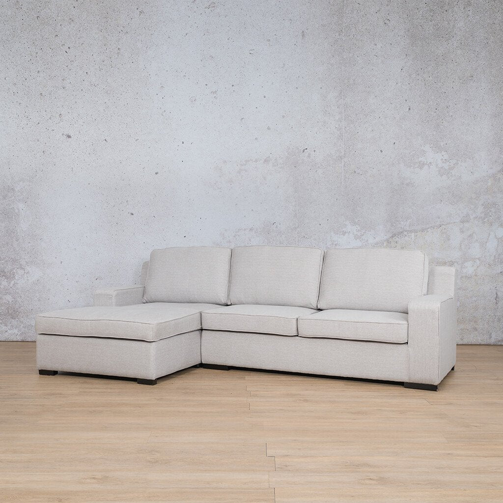 Arizona Fabric Corner Couch | Sofa Sectional-LHF | Oyster-A | Front Angled | Couches For Sale | Leather Gallery Couches