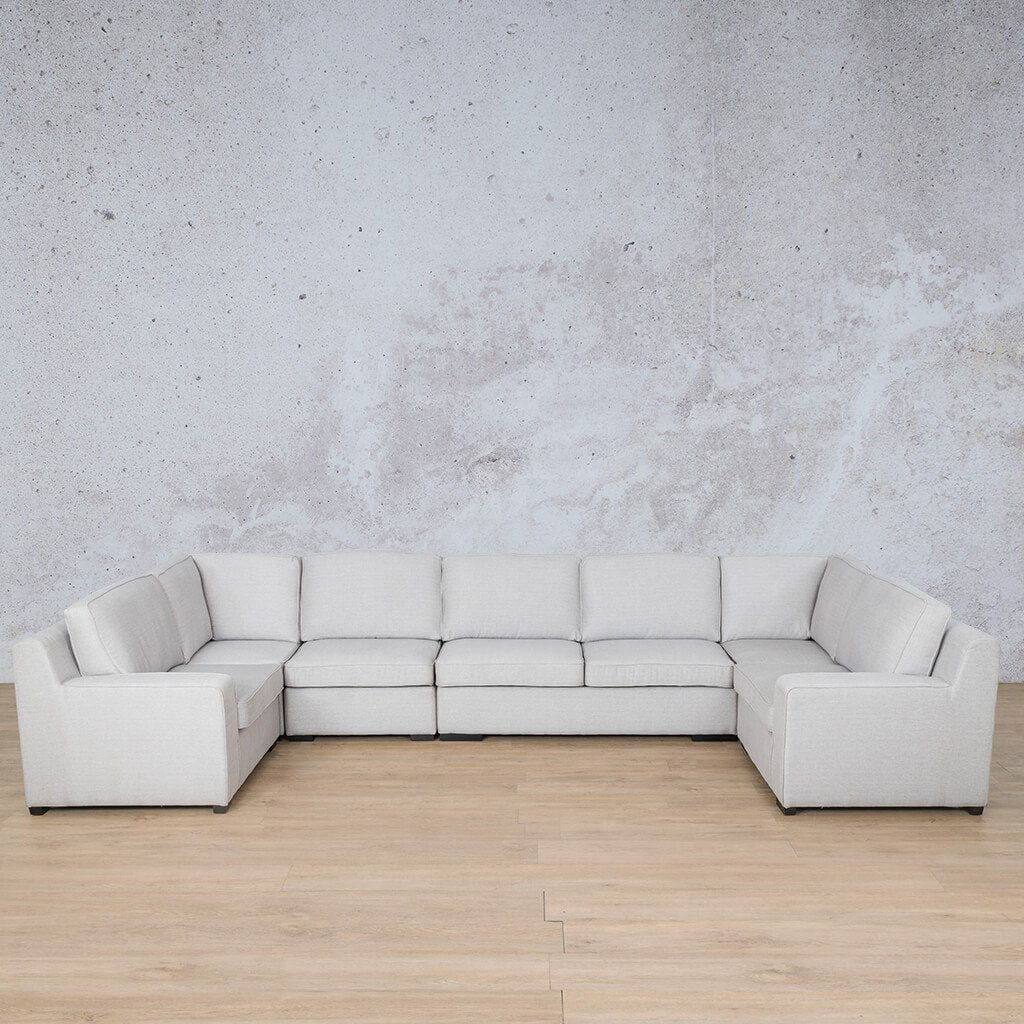 Arizona Fabric Corner Couch | Modular U-Sofa Sectional | Oyster-A | Couches For Sale | Leather Gallery Couches