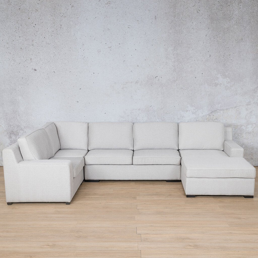 Arizona Fabric Corner Couch | U-Sofa Chaise Sectional-RHF | Oyster-A | Couches For Sale | Leather Gallery Couches