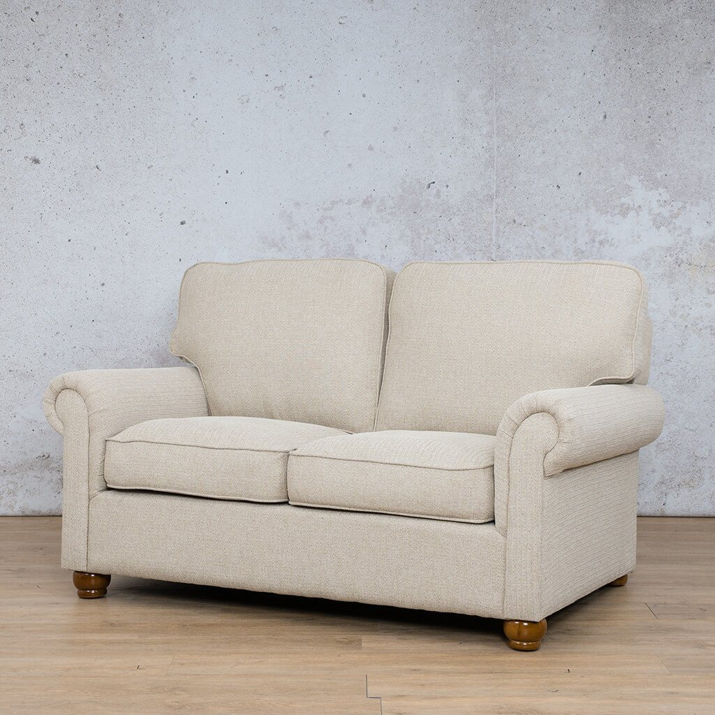 Salisbury Fabric  Couch | 2 Seater Couch | Couches for Sale | Riverside S | Front Angled | Leather Gallery Couches