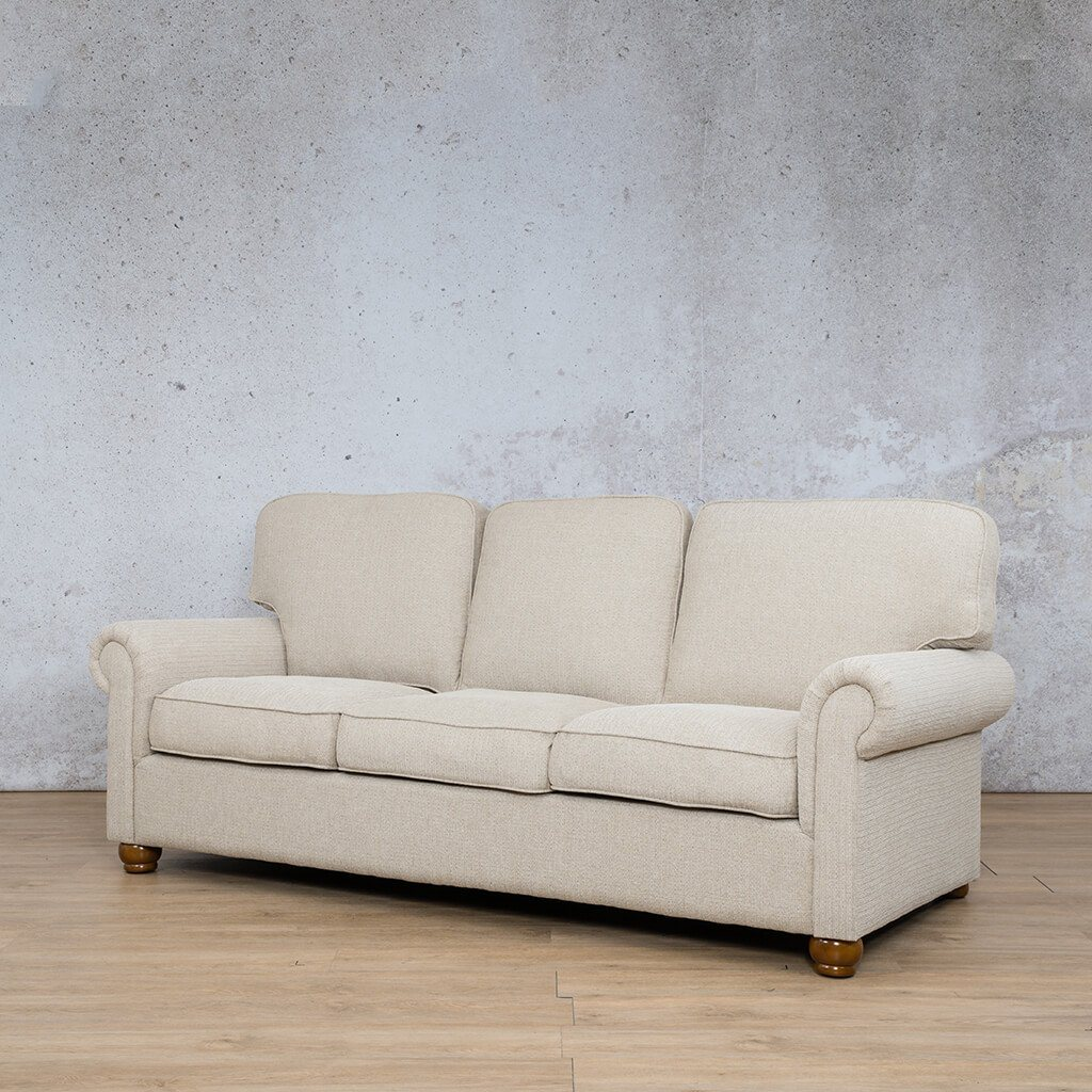 Salisbury Fabric Couch | 3 Seater Couch | Front angled | Couches for Sale | Riverside S | Leather Gallery Couches