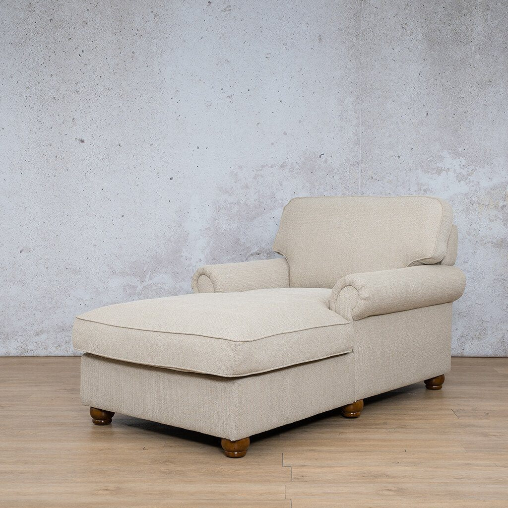 Salisbury Fabric Corner Couch | 2 Arm Chaise | Riverside-S | Front Angled | Couches For Sale | Leather Gallery Couches