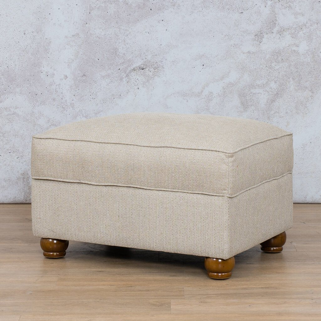 Salisbury Fabric Ottoman | Leather Gallery