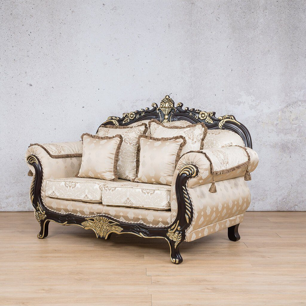 Berlin Fabric Couch | 2 seater couch | Beige-B | Couches for Sale | Front Angled | Leather Gallery Couches