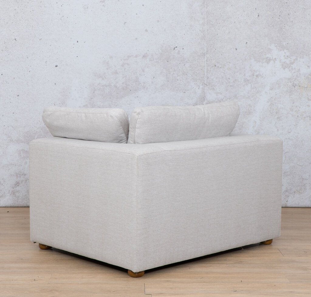 Skye Fabric Corner Couch | 1 Seater Couch | Oyster-A | Back Angled | Couches For Sale | Leather Gallery Couches