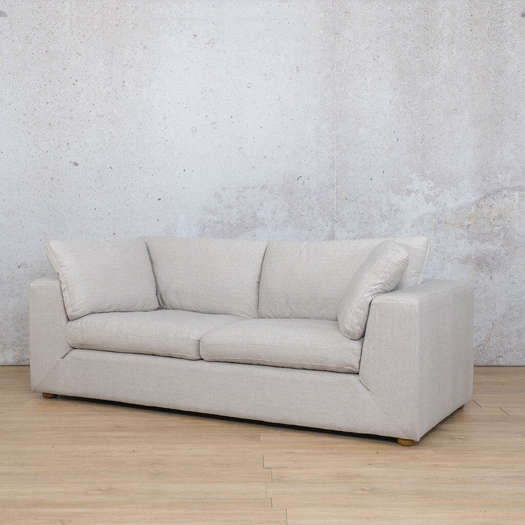 Skye Fabric Corner Couch | 3 Seater Couch | Oyster-A | Front Angled | Couches For Sale | Leather Gallery Couches