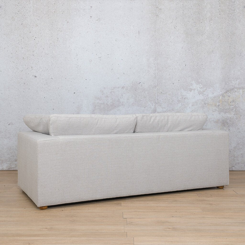 Skye Fabric Corner Couch | 3 Seater Couch | Oyster-A | Back Angled | Couches For Sale | Leather Gallery Couches
