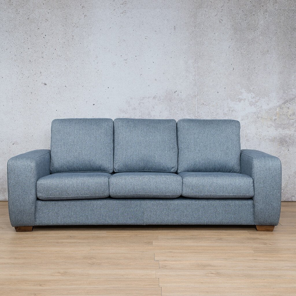 Stanford Fabric | 3 Seater | Navy | Leather Gallery