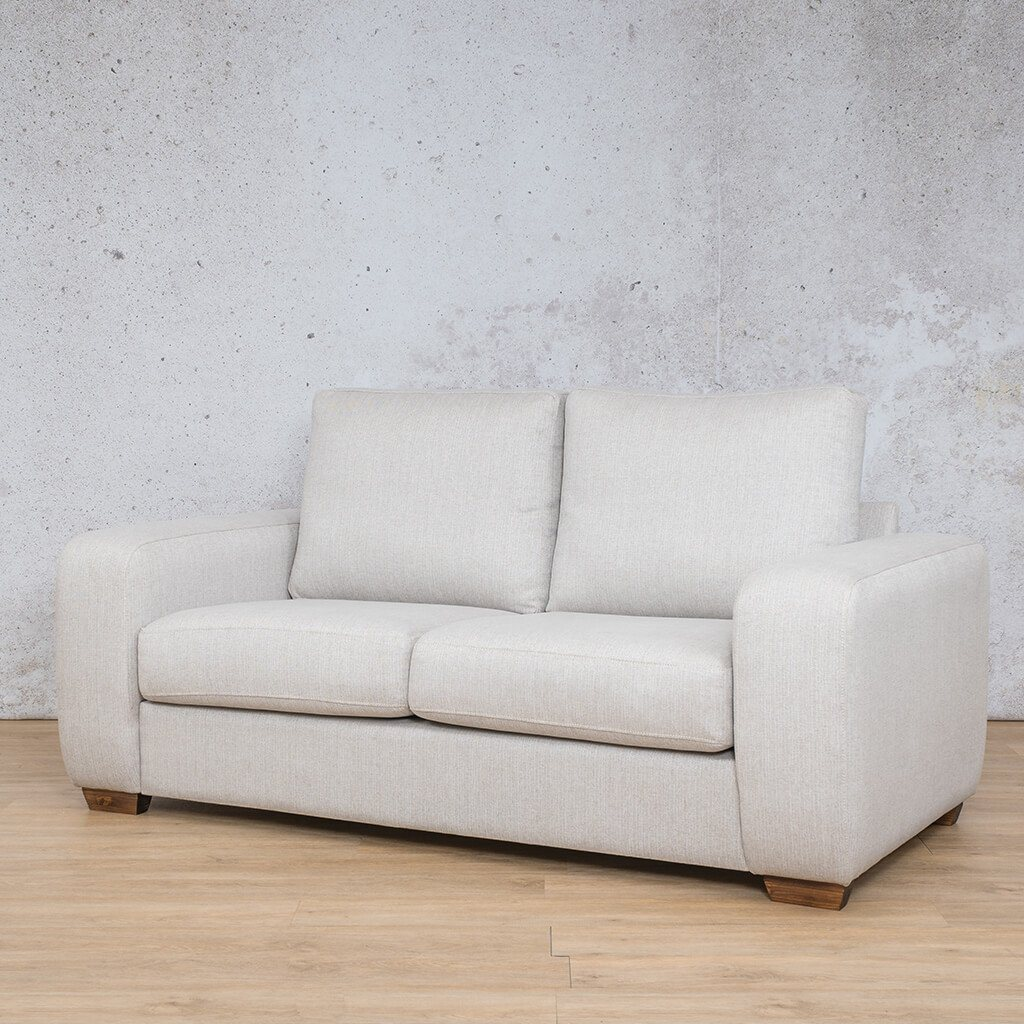 Stanford Fabric Couch | 2 seater couch | Oyster | Front Angled | Couches for Sale | Leather Gallery Couches