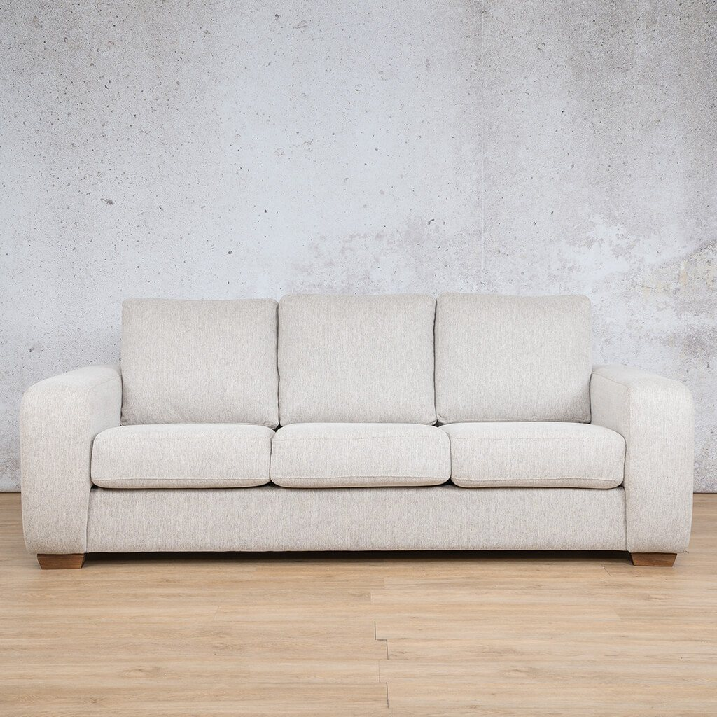 Stanford Fabric | 3 Seater | Pebble | Leather Gallery