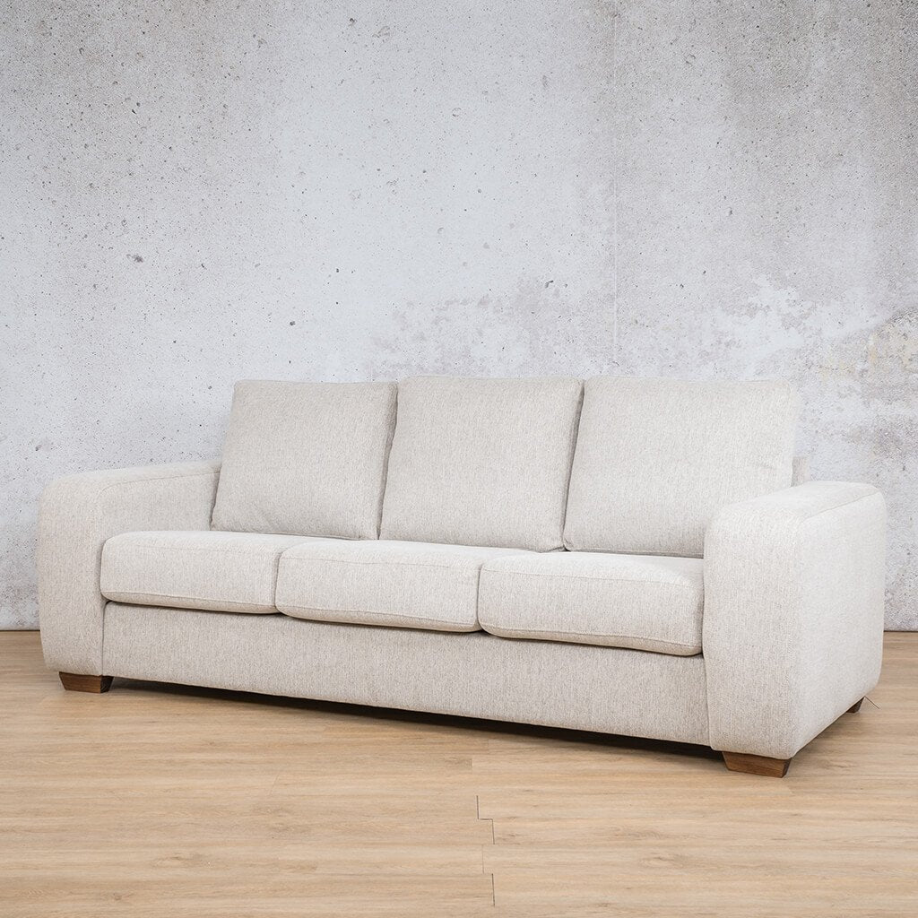 Stanford Fabric Couch | 3 seater couch | Pebble-S | Front Angled | Couches for Sale | Leather Gallery Couches