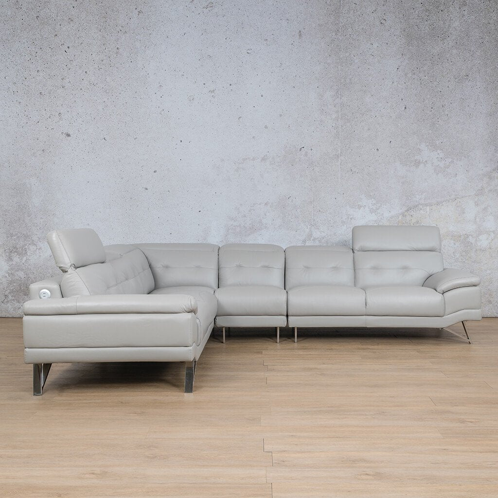 Malina Leather Corner Couch | Sectional | Grey-Man | Side | Couches For Sale | Leather Gallery Couches