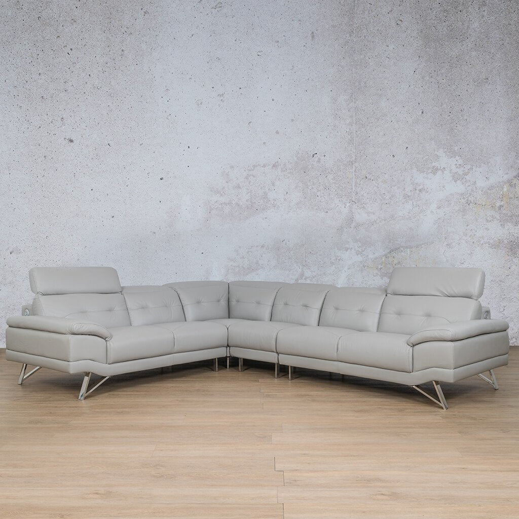 Malina Leather Corner Couch | Sectional | Grey-Man | Couches For Sale | Leather Gallery Couches