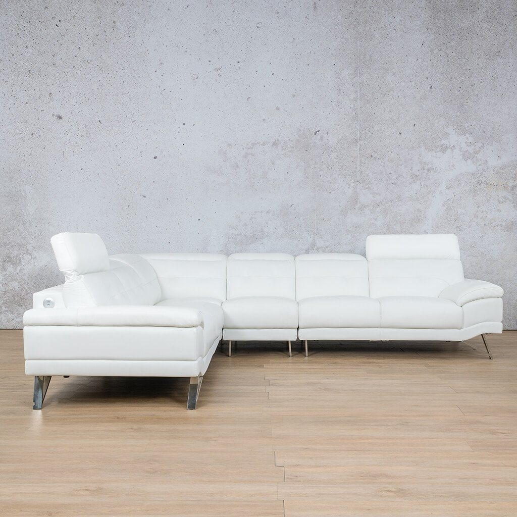 San Pablo Leather Corner Couch | Sectional | White-SP | Side | Couches For Sale | Leather Gallery Couches