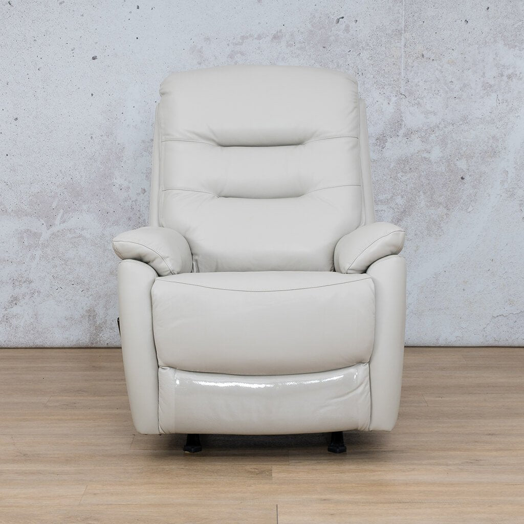 Dallas Leather Couch | 1 Seater Recliner | Beige | Leather Gallery