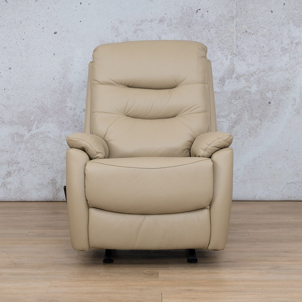 Dallas Leather Couch | 1 Seater Recliner | Latte | Leather Gallery