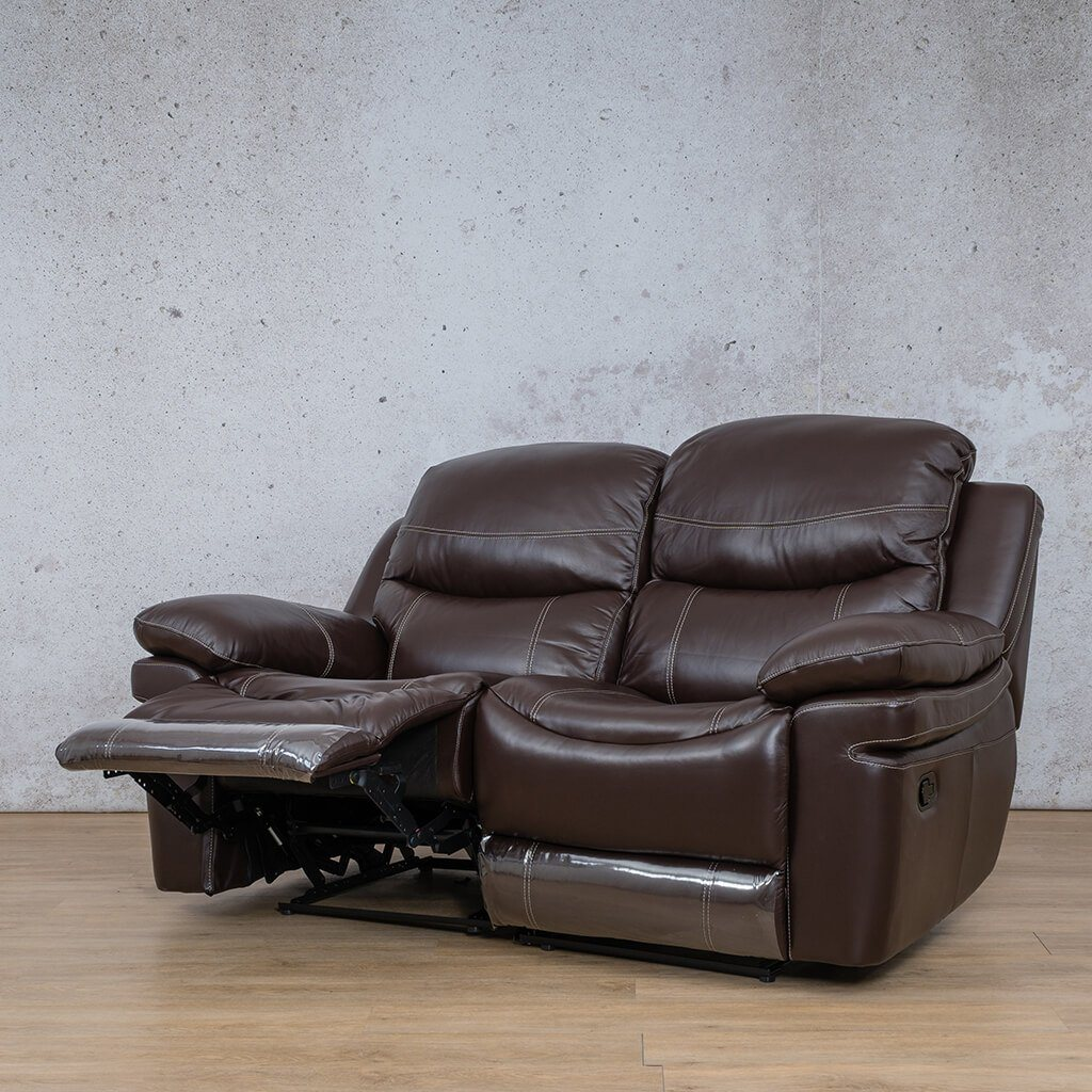 Geneva 2 Seater Leather Recliner
