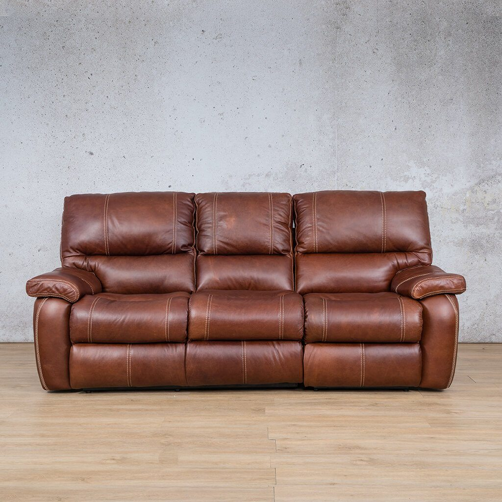 Senora Leather Recliner Couch | 3 Seater Home Theatre | Odingo Bark-S | Couches For Sale | Leather Gallery Couches