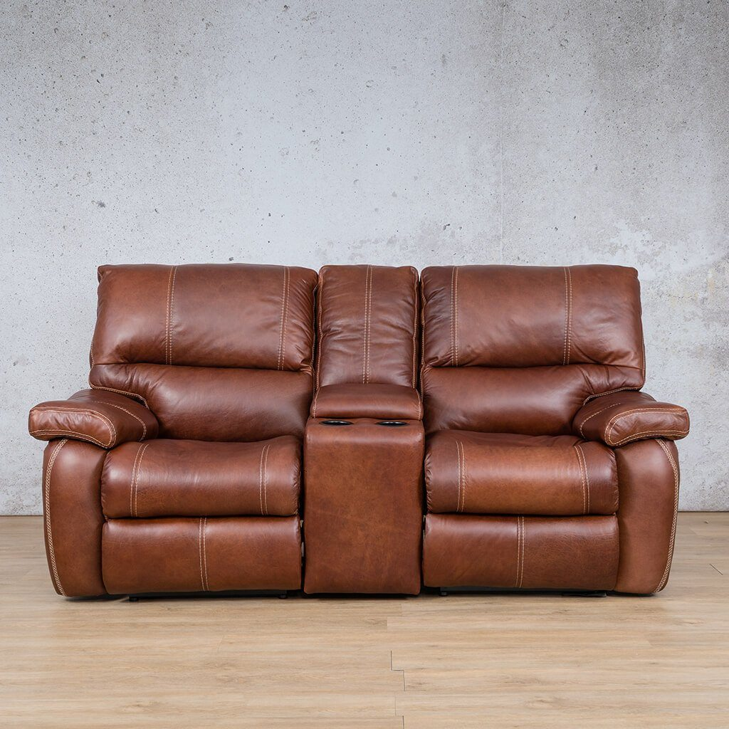 Senora Leather Recliner Couch | 2 Seater Home Theatre | Odingo Bark-S | Couches For Sale | Leather Gallery Couches
