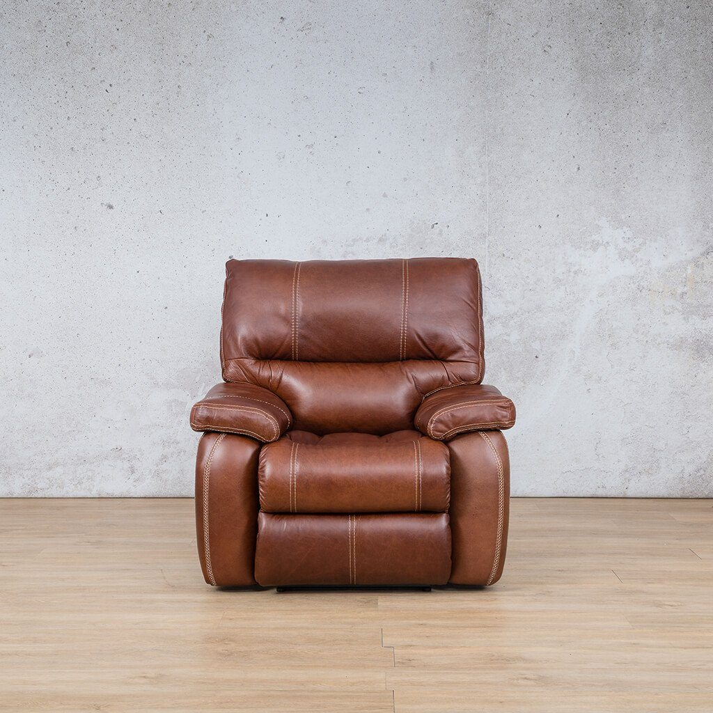Senora Leather Recliner Couch | 1 Seater Home Theatre | Odingo Bark-S | Couches For Sale | Leather Gallery Couches