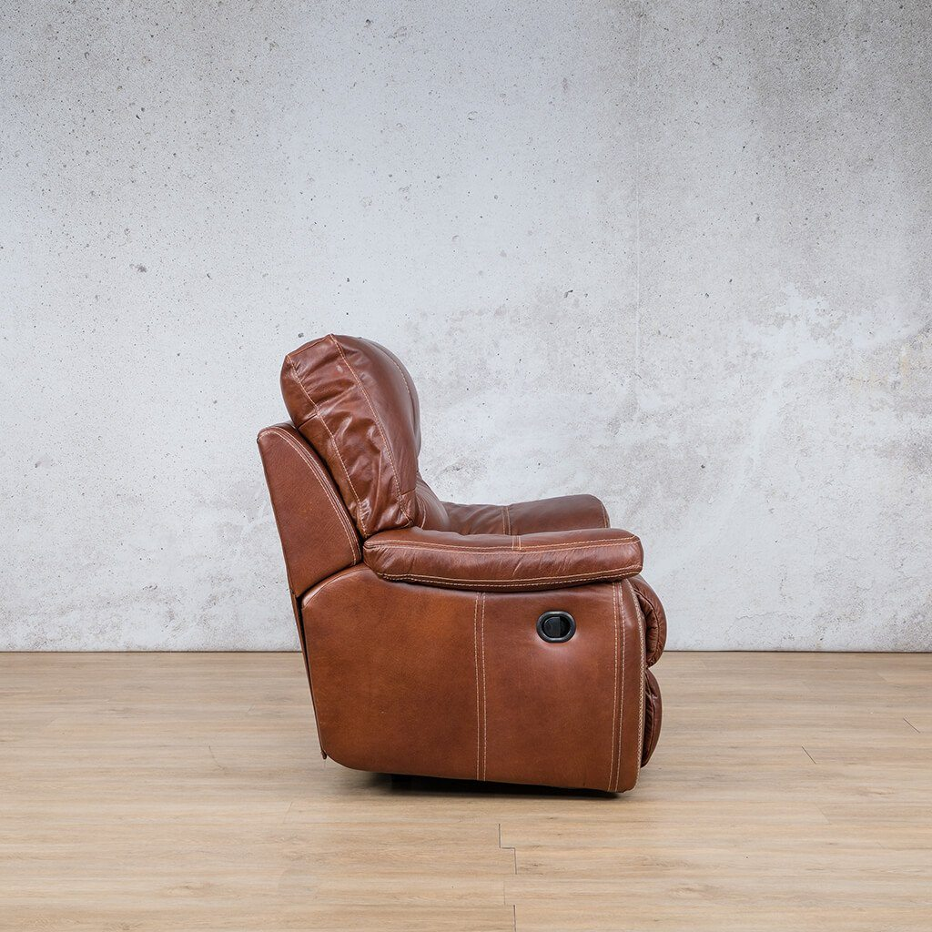 Senora 1 Seater Leather Recliner - Warehouse
