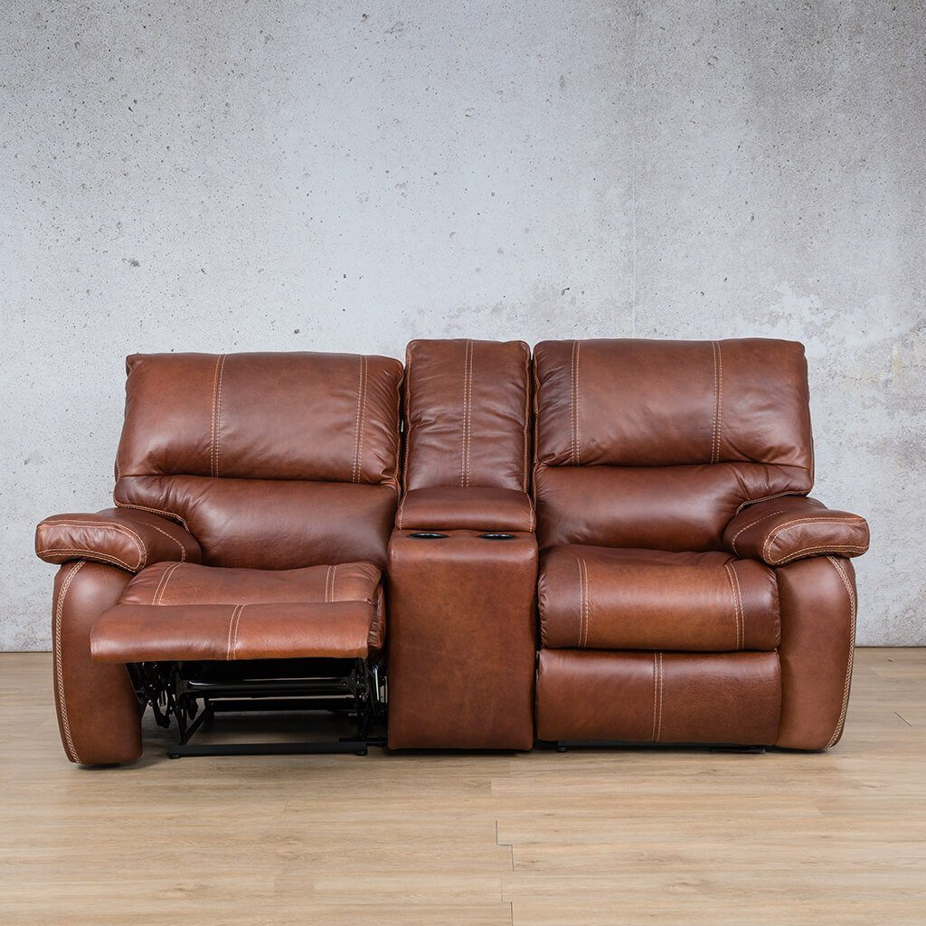 Senora Leather Recliner Couch | 2 Seater Home Theatre | Odingo Bark-S | Open | Couches For Sale | Leather Gallery Couches