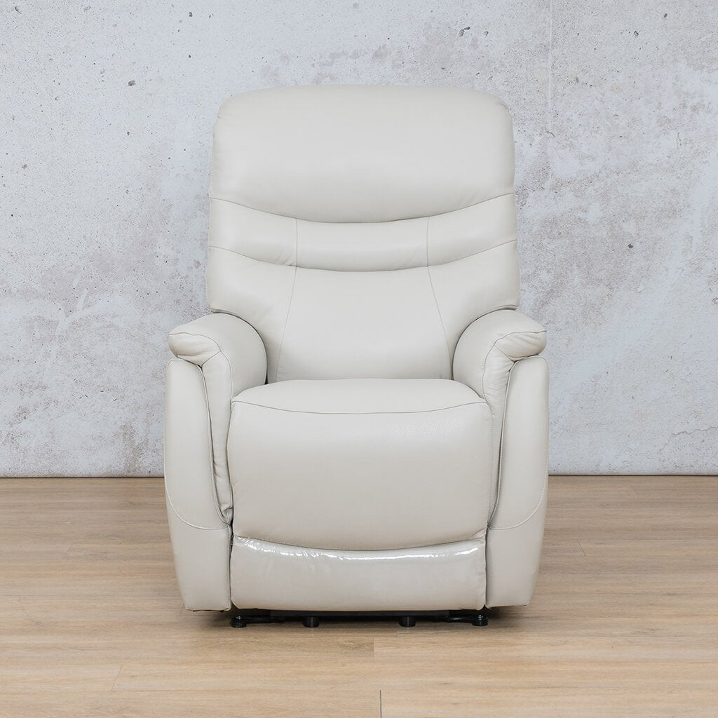 Seattle Leather Recliner Couch | 1 Seater Couch | Beige-S | Couches For Sale | Leather Gallery Couches