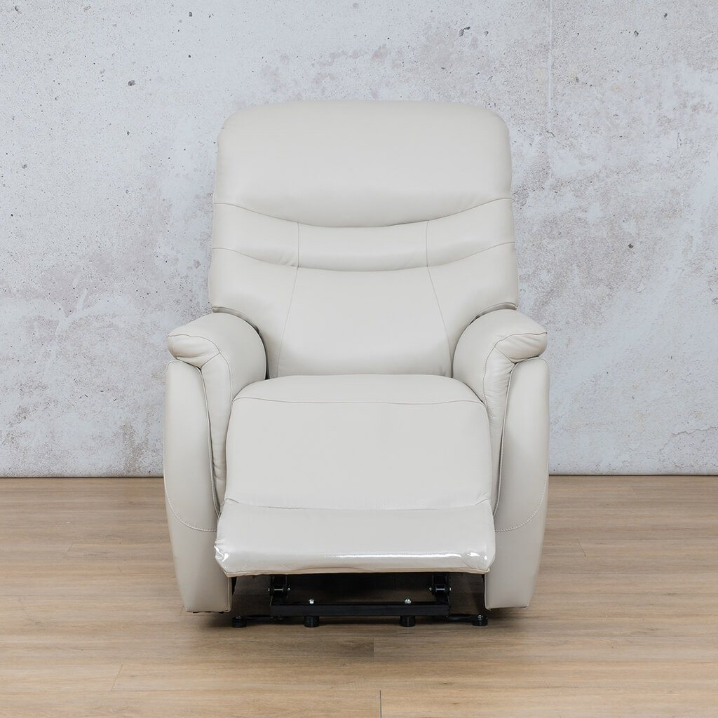 Seattle Leather Recliner Couch | 1 Seater Couch | Beige-S | Open | Couches For Sale | Leather Gallery Couches