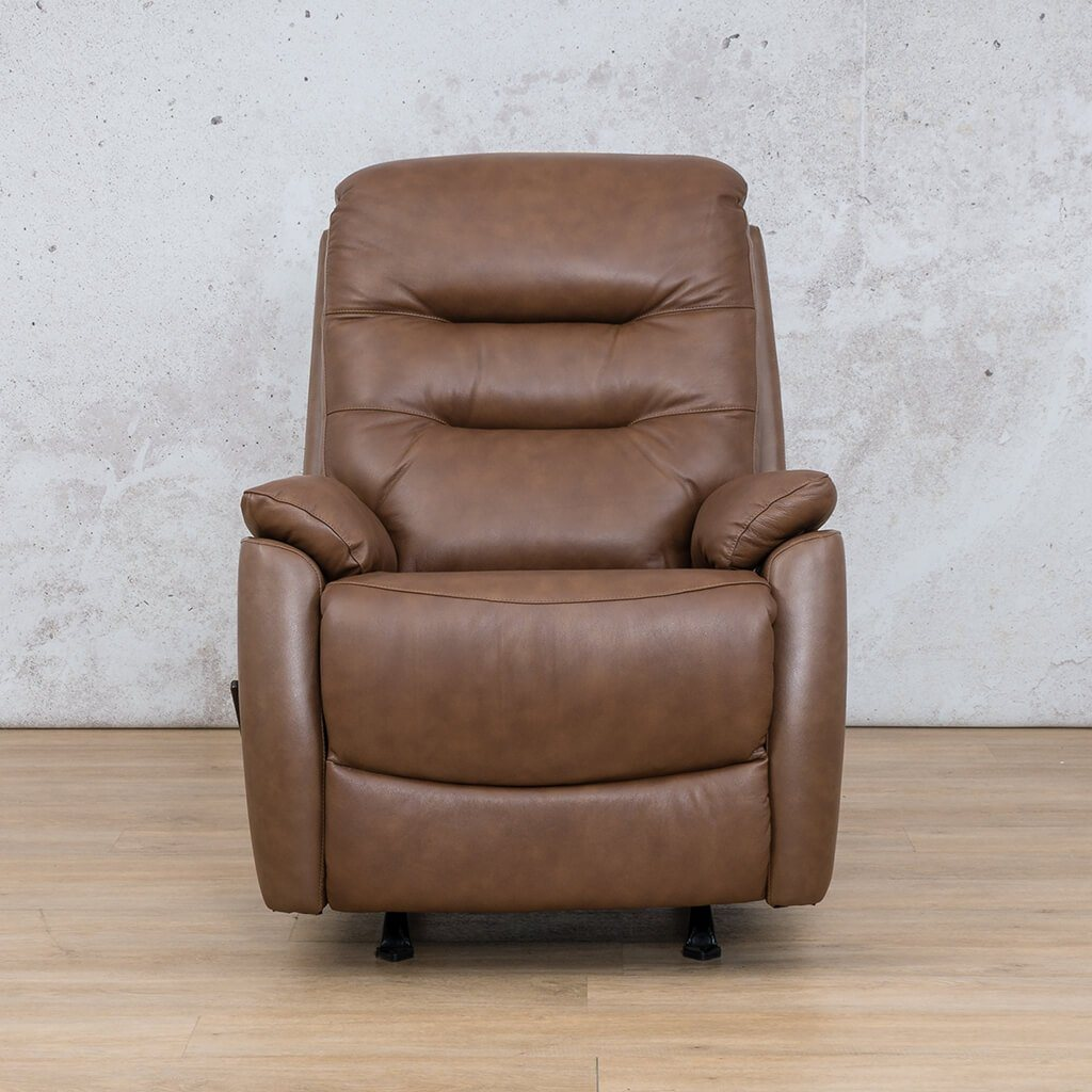 Dallas Leather Couch | 1 Seater Recliner | Saddle | Leather Gallery