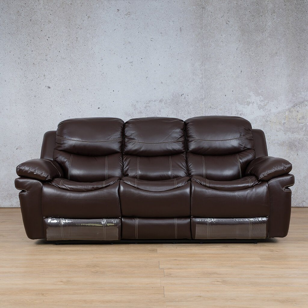 Geneva Leather Recliner Couch | 3 Seater Couch | Choc-G | Couches For Sale | Leather Gallery Couches