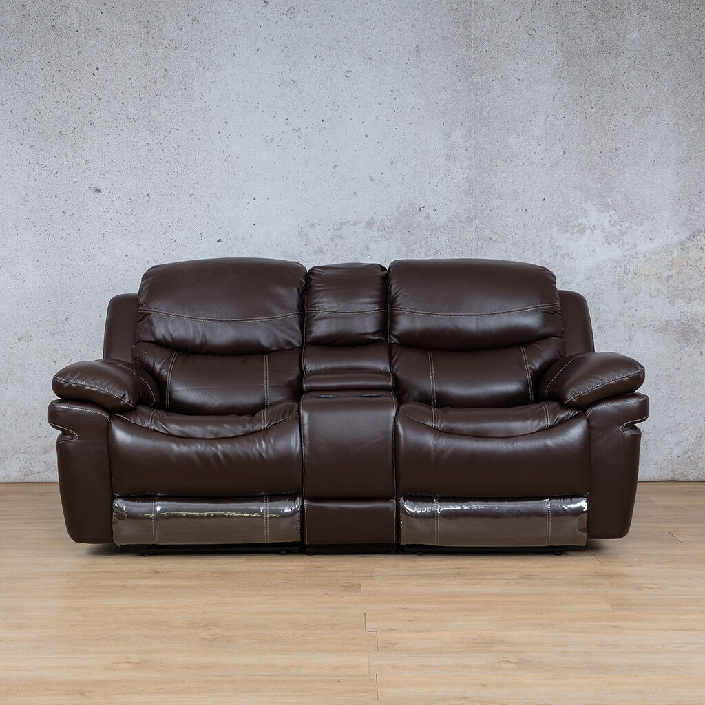 Geneva Leather Recliner Couch | 2 Seater Couch | Choc-G | Couches For Sale | Leather Gallery Couches