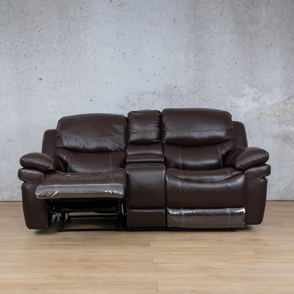 Geneva Leather Recliner Couch | Home Theatre | Choc-G | Open | Couches For Sale | Leather Gallery Couches