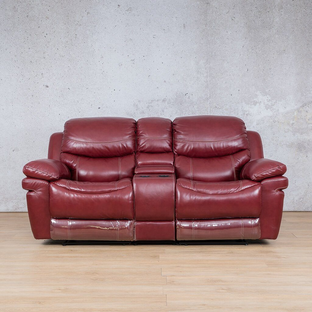 Geneva Leather Recliner Couch | 2 Seater Couch | Wine-G | Couches For Sale | Leather Gallery Couches