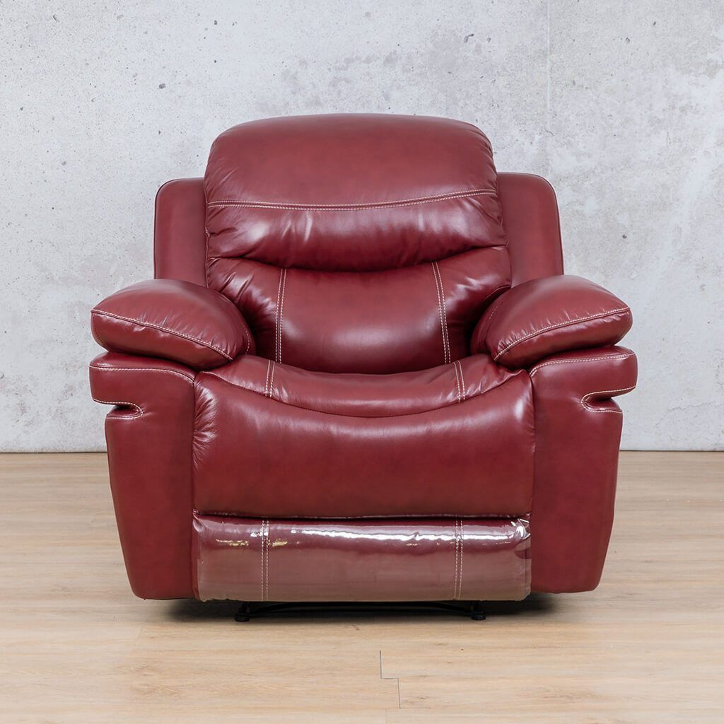 Geneva Leather Recliner Couch | 1 Seater Couch | Wine-G | Couches For Sale | Leather Gallery Couches