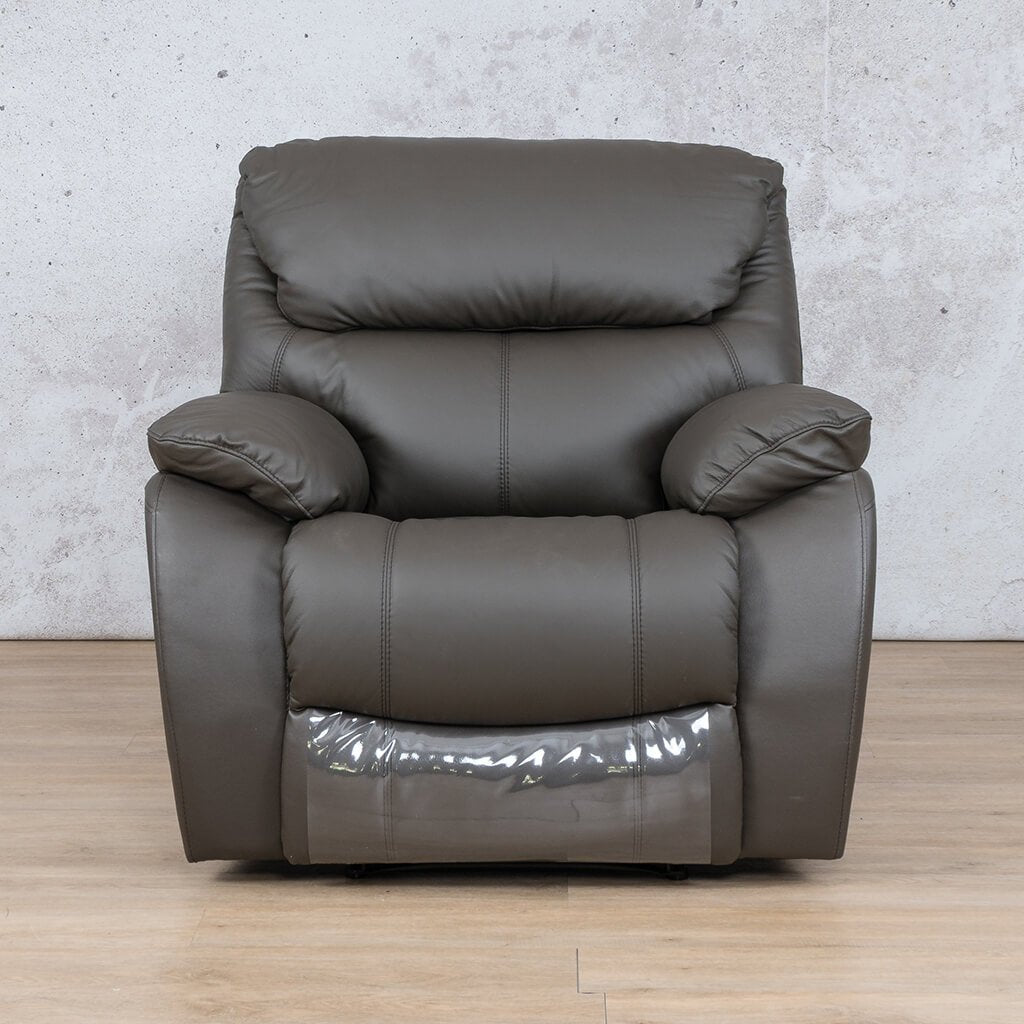 Cairo Leather Recliner Couch | 1 Seater Couch | Choc-K | Couches For Sale | Leather Gallery Couches