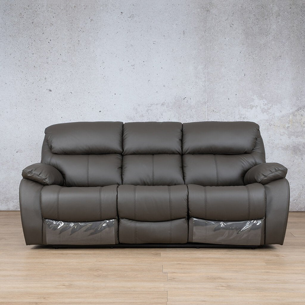 Cairo Leather Recliner Couch | 3 Seater Home Theatre | Choc-K | Couches For Sale | Leather Gallery Couches