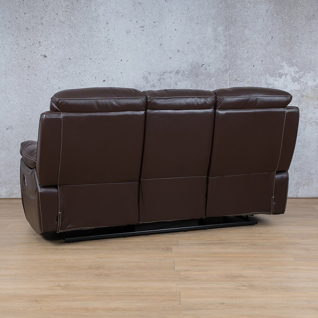 Lexington Leather Recliner Couch | 3 Seater Couch | Choc-Lex | Back Angled | Couches For Sale | Leather Gallery Couches