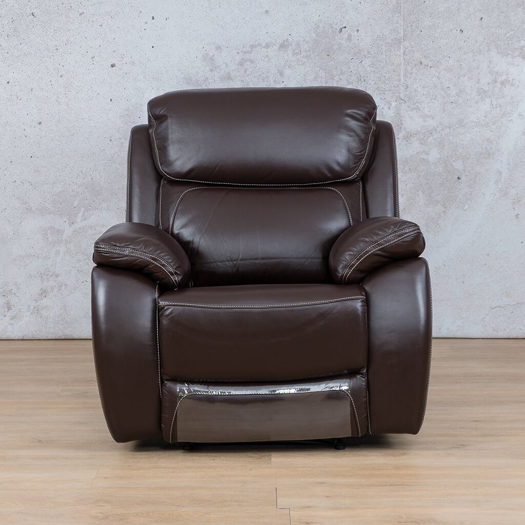 Lexington Leather Recliner Couch | 1 Seater Couch | Choc-Lex | Couches For Sale | Leather Gallery Couches