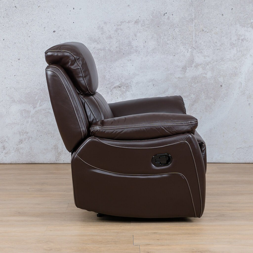Lexington Leather Recliner Couch | 1 Seater Couch | Choc-Lex | Side | Couches For Sale | Leather Gallery Couches